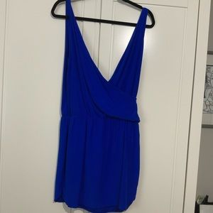EUC Amanda Uprichard silk cobalt blue dress medium